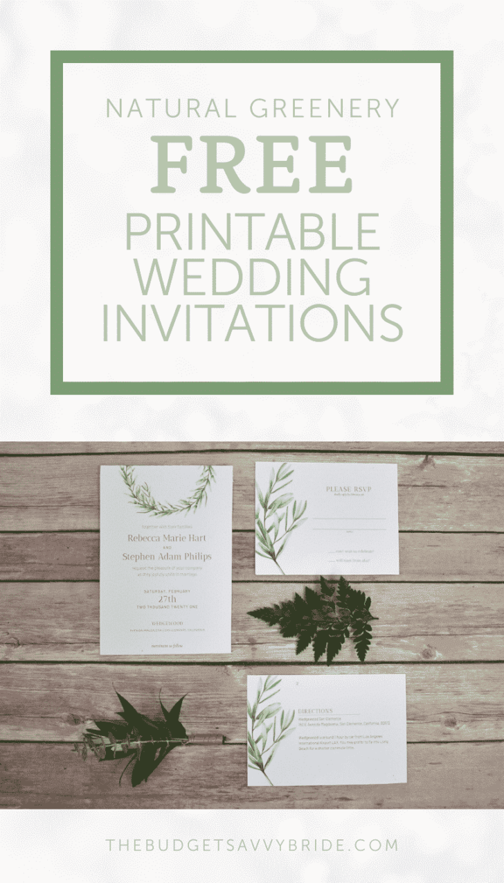 Greenery Wedding Invitations and Paper