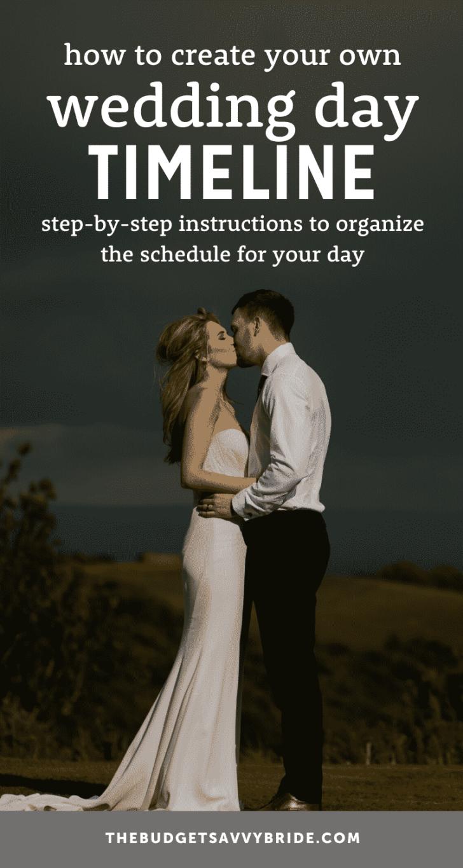 create a wedding day timeline