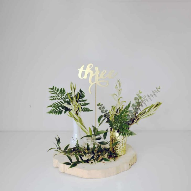 greenery wedding inspiration from blooms by the box- greenery centerpiece