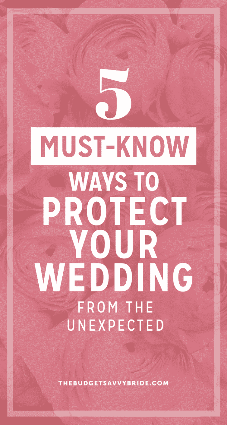 protect your wedding