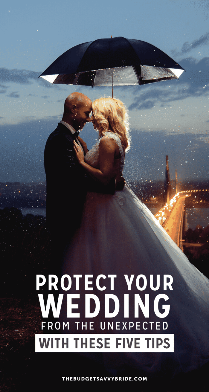 protect your wedding from the unexpected