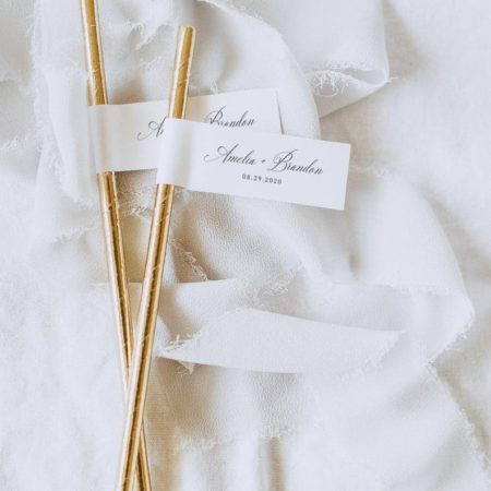Printable Wedding Straw Flags