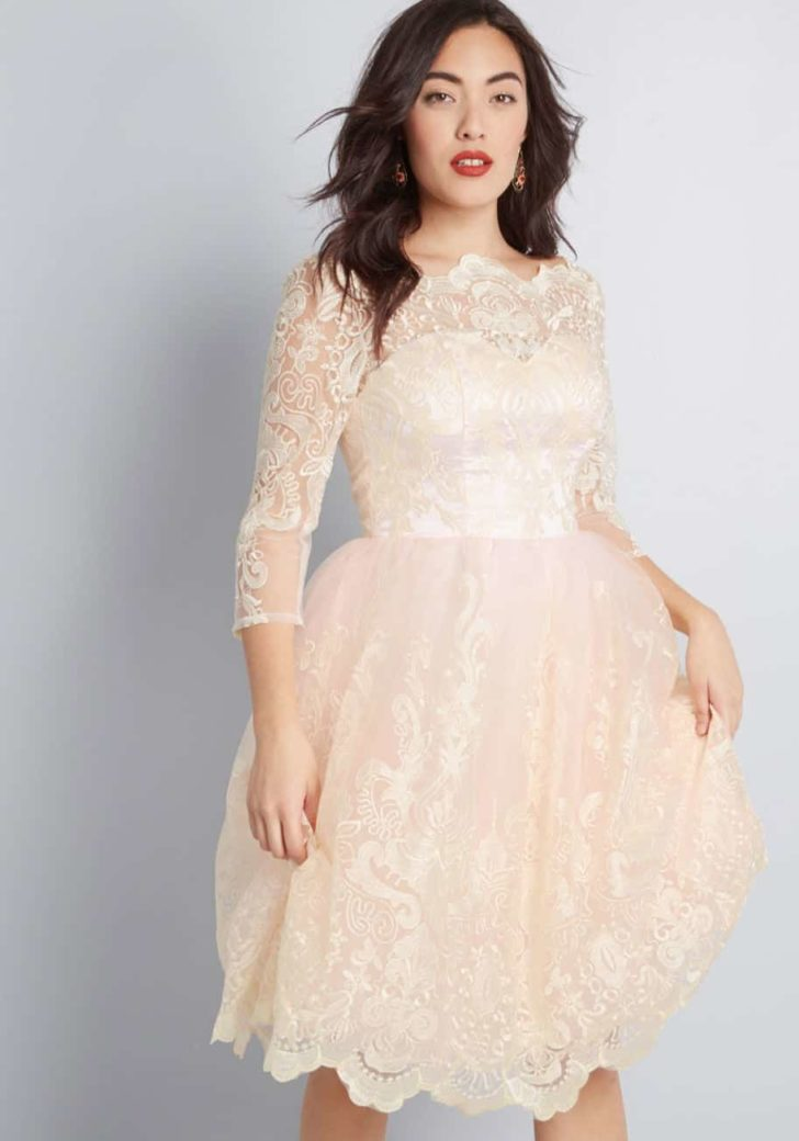 Gilded Grace Lace Dress By Chi Chi London