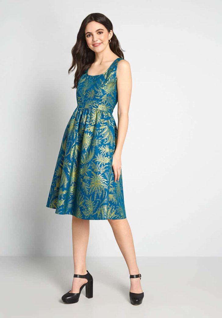 Automatic Classic Cotton Dress By Retrolicious
