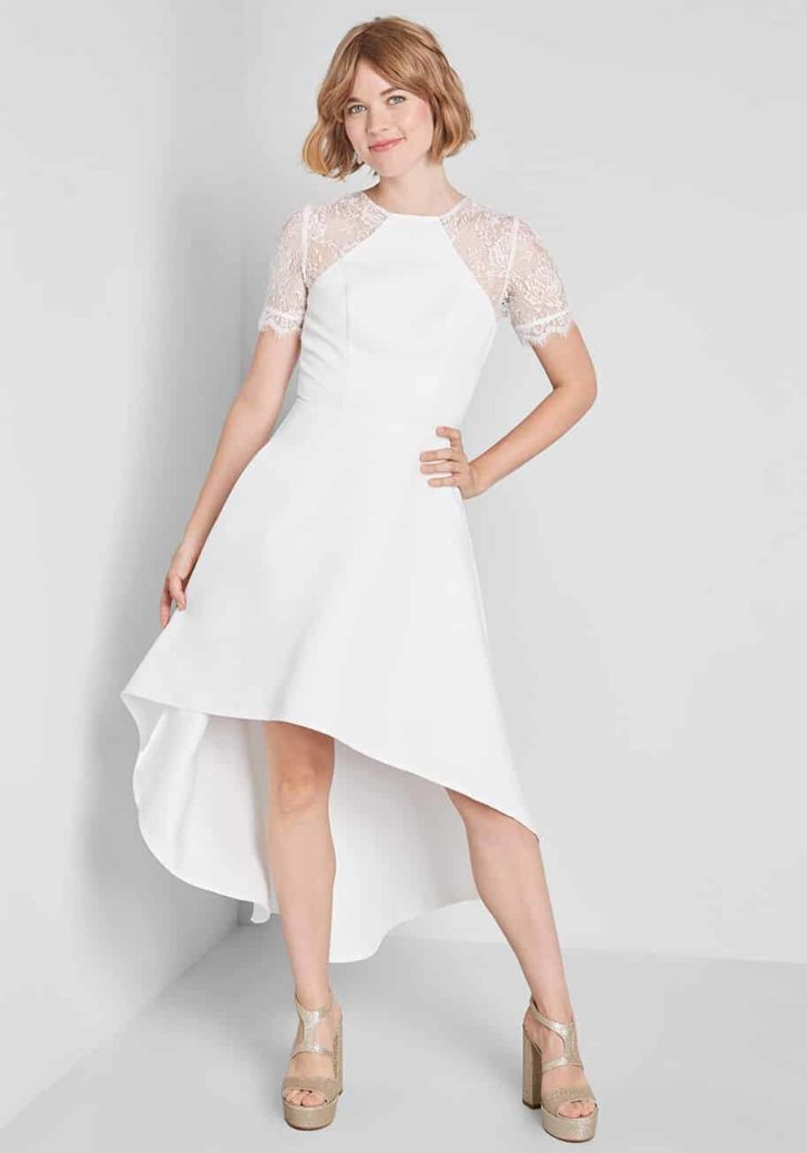 Sheer Romance High-Low Midi Dress By Chi Chi London