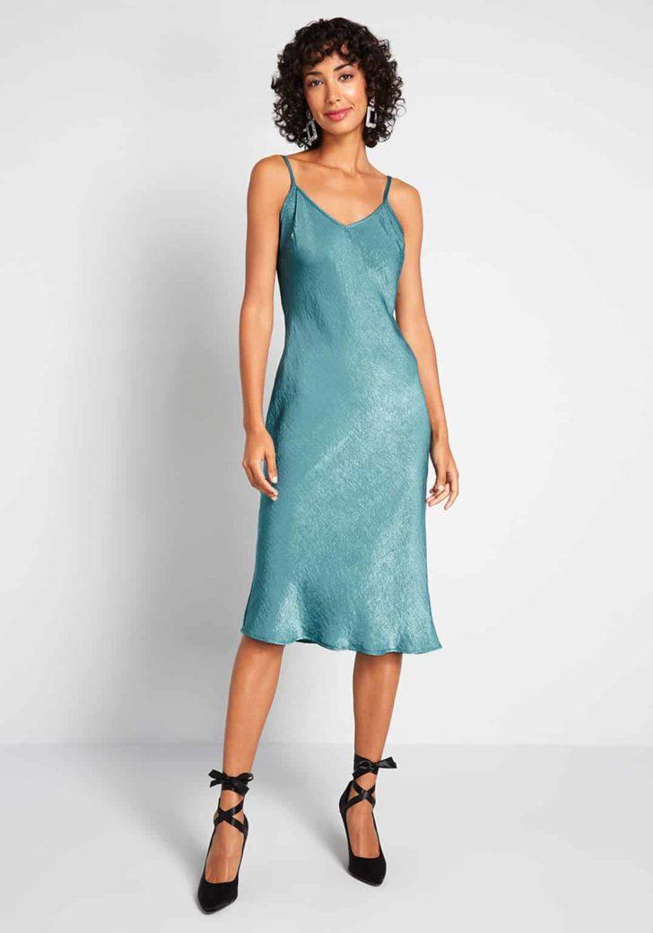 Take Notice Satin Slip Dress by ModCloth