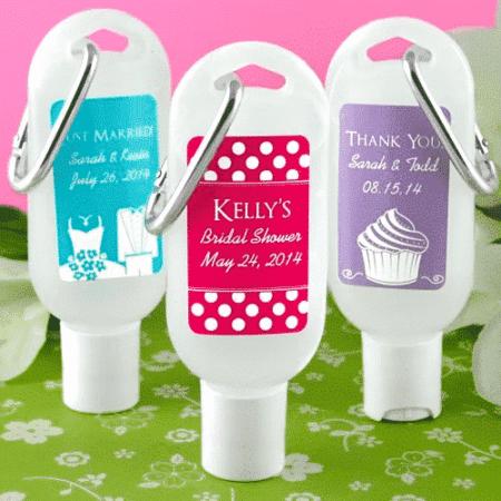 hand sanitizer wedding favors