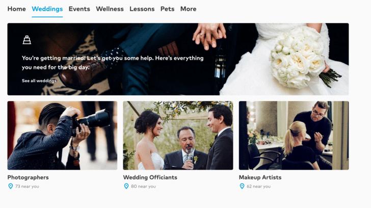 thumbtack wedding vendors