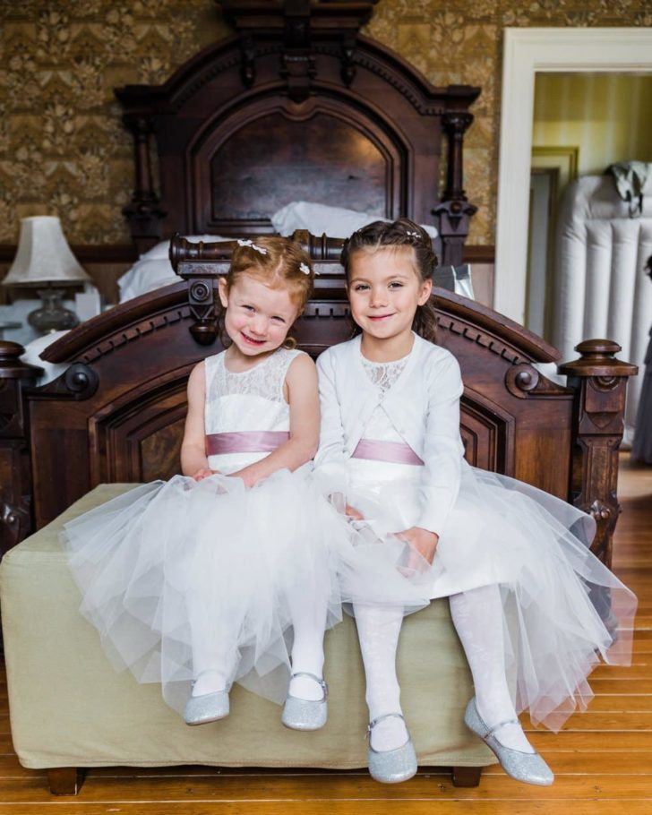 Tulle flower girl dresses - Victorian Farmhouse Elopement in California