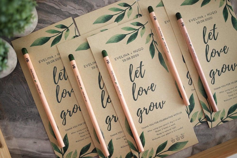Let Love Grow Eco-friendly wedding favors