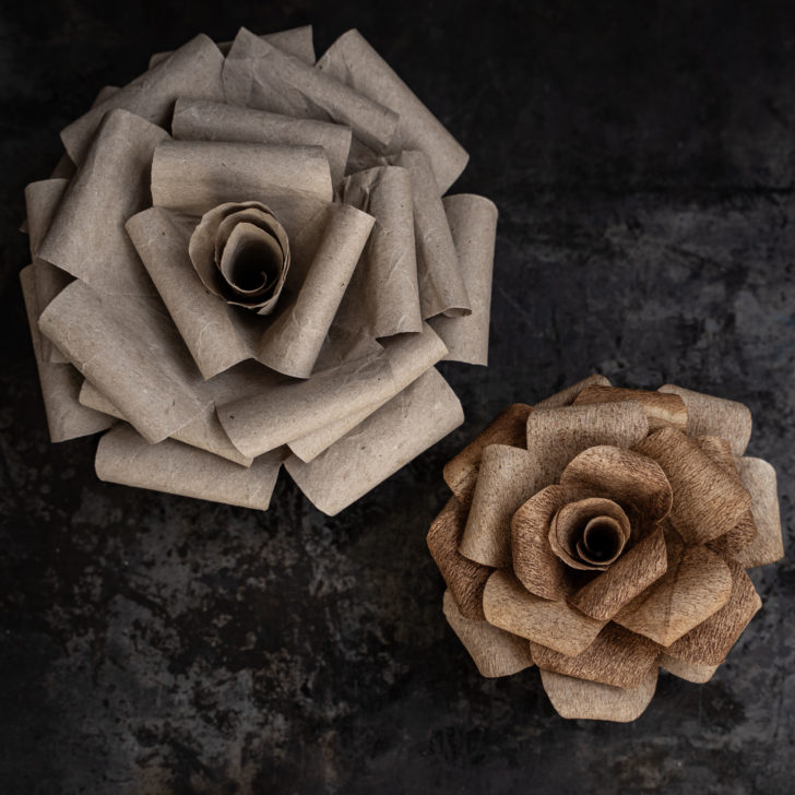 Curl the ends of your petals around something round and thin, like a small paintbrush.