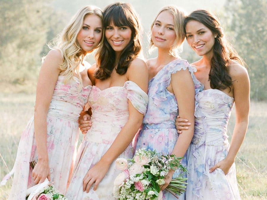 Plum Pretty Sugar Floral Bridesmaids Dresses