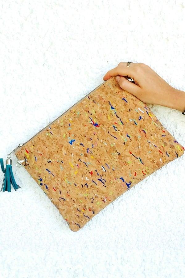 Cork Clutch Handbag - eco-friendly bridesmaids gift ideas
