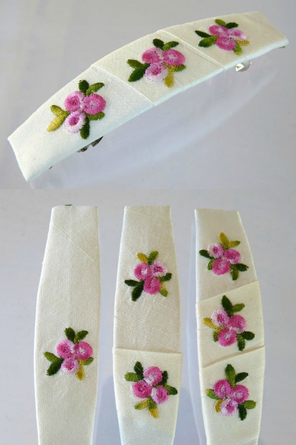 Floral Silk Hair Clip By PacificGrace