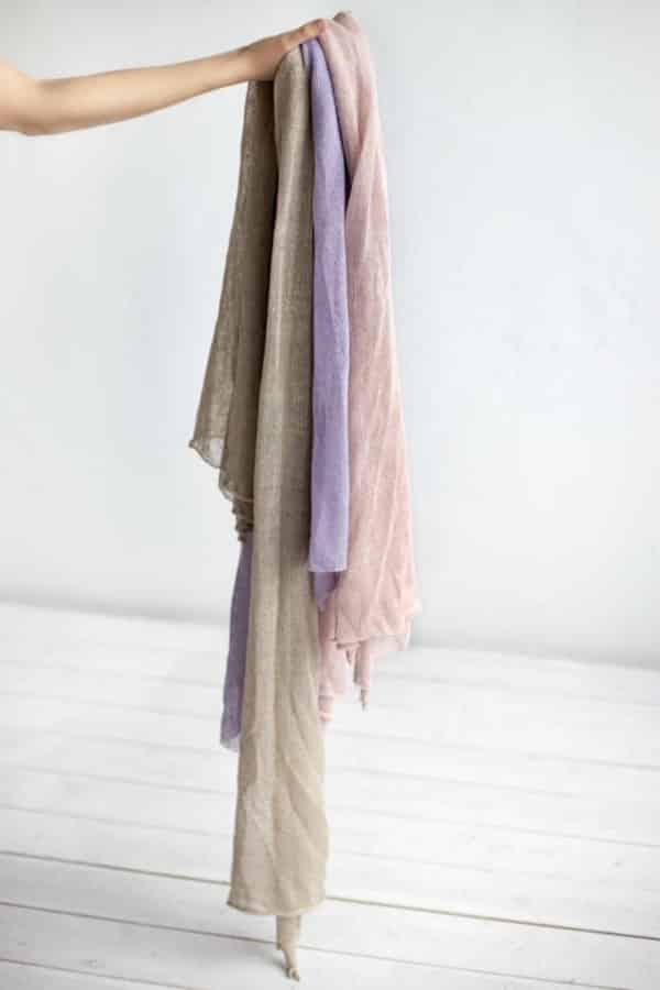 Linen Scarves - eco-friendly bridesmaids gift ideas