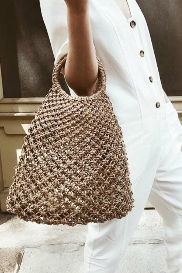 Macrame Rope Woven Tote - eco-friendly bridesmaids gift ideas