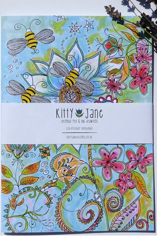 Recycled Floral Notebook By KittyJaneDesigns