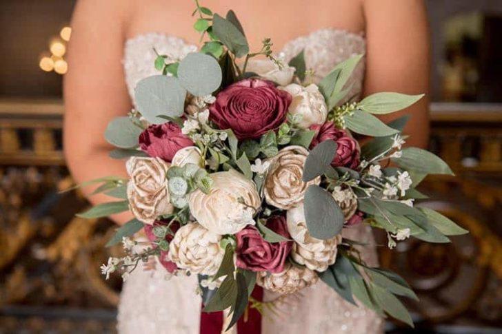 Sola Wood Flower Wedding Bouquet