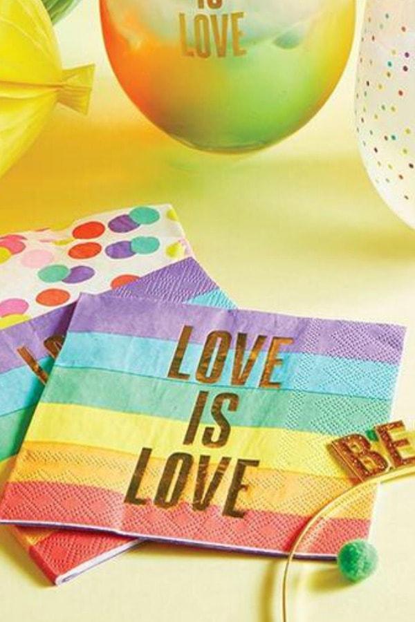 Love is Love Rainbow Cocktail Napkins
