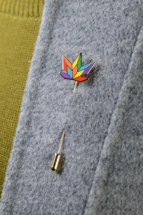 Rainbow Leaf Stick Pin