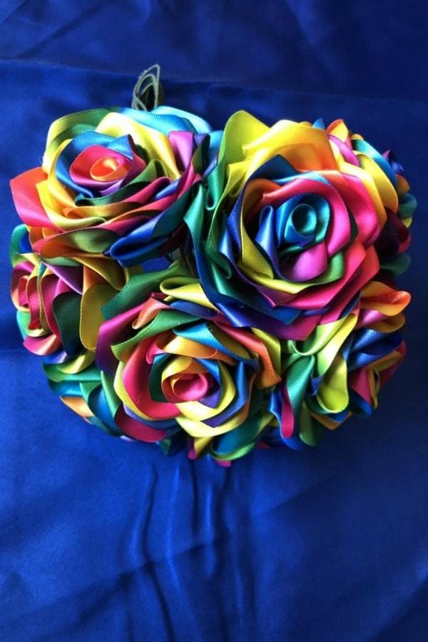 Rainbow Ribbon Roses Bouquet
