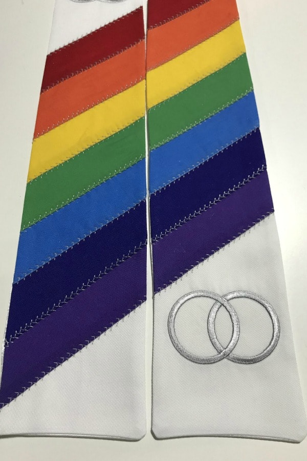 Rainbow Wedding Officiant Clergy Stole