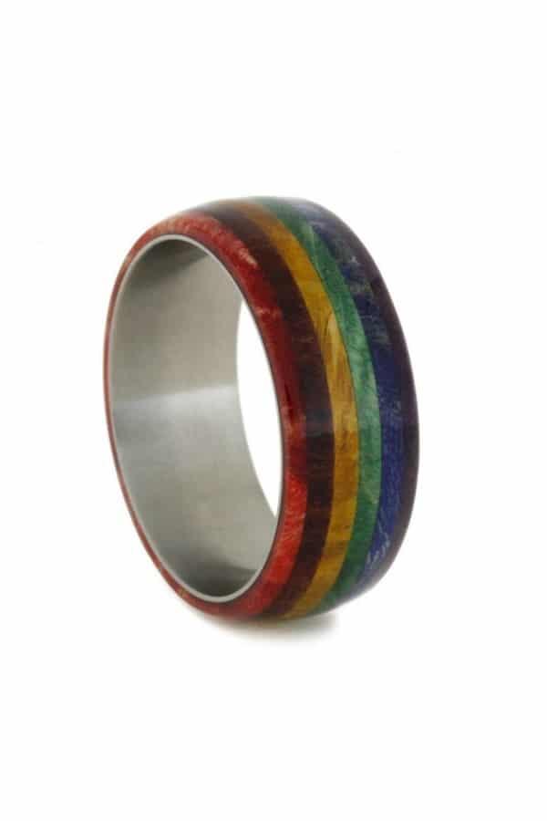Rainbow Wood Ring