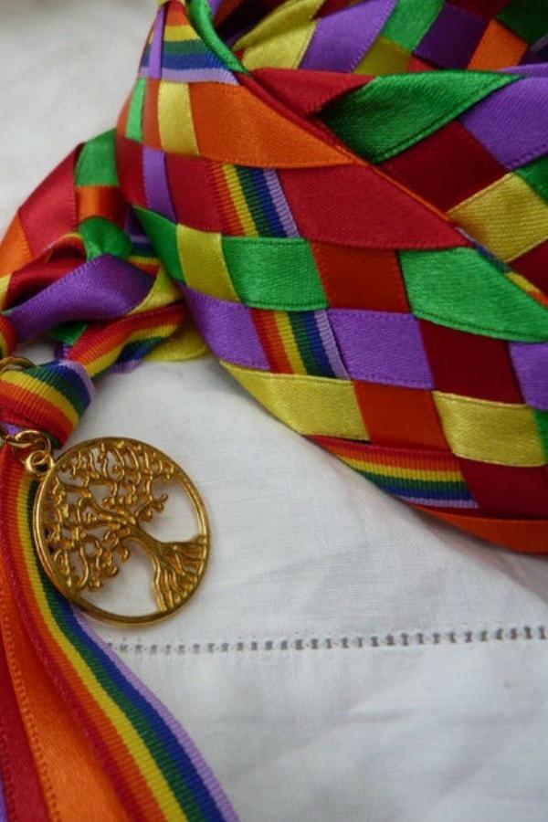 Rainbow wedding cord