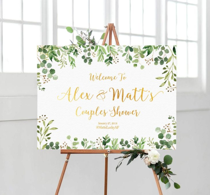 couples shower sign from aquariusds on etsy