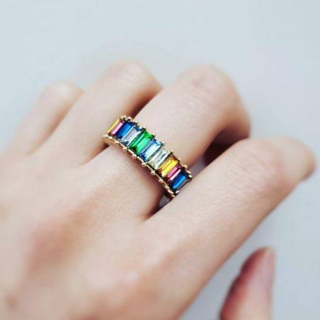 rainbow baguette band