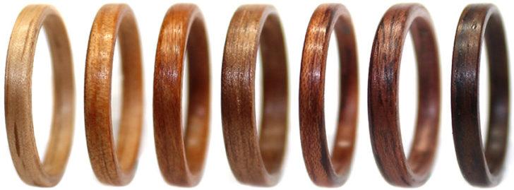 wooden wedding rings • WoodenRings.com