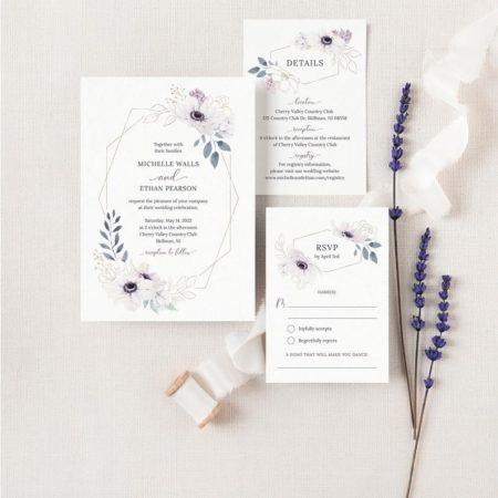 Anemone Wedding Invitation Suite