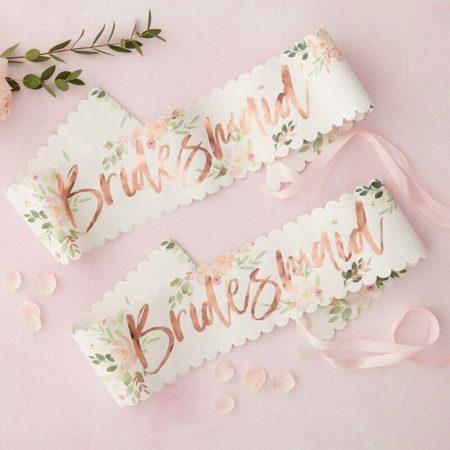 Blush Scallop Bridesmaid Sash