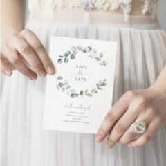 Eucalyptus Wedding Save the Date