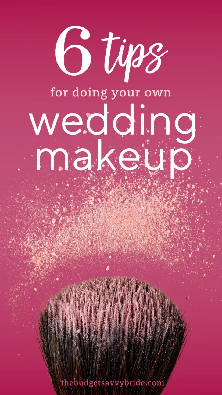 DIY wedding makeup tips