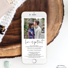Wedding Postponed Announcement - Resave The Date