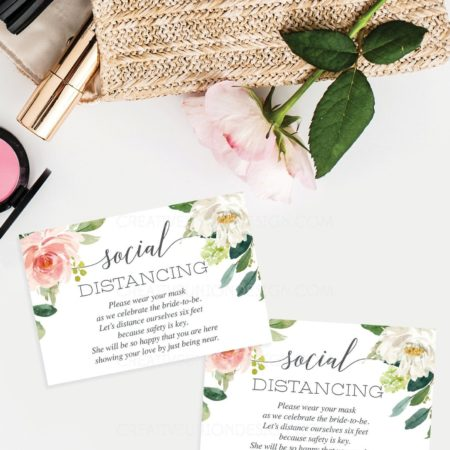 Social Distancing Bridal Shower Enclosure Cards - Creative Union Design