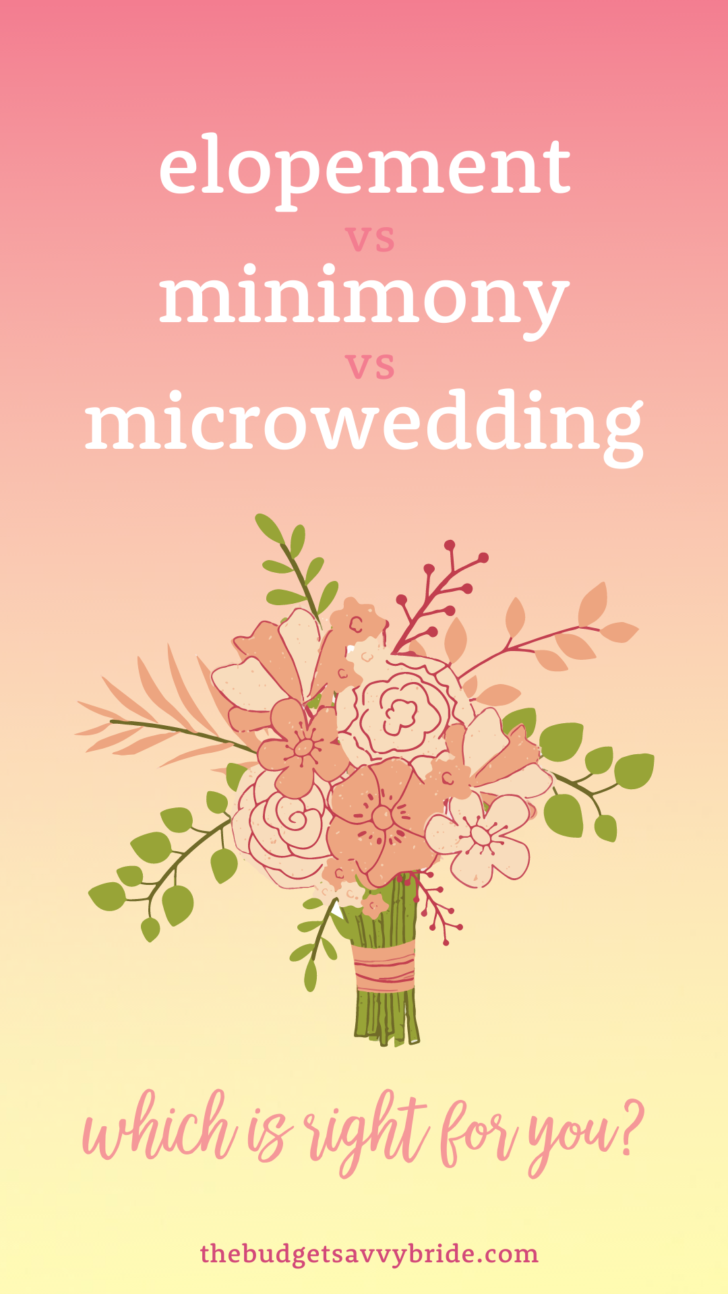 Pandemic Wedding Options: elopement vs minimony vs microwedding  What are the differences and which is right for you?