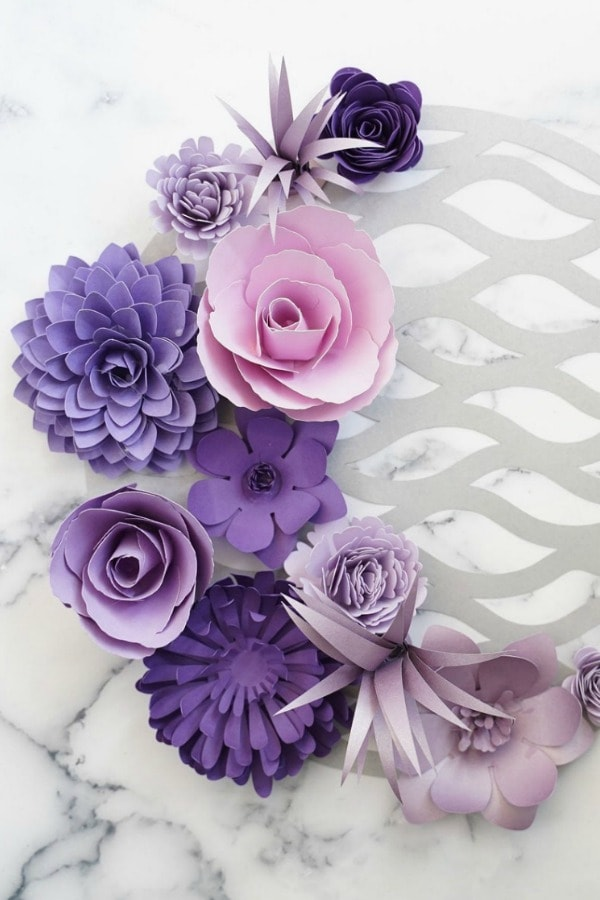 Paper Flower Templates Elizabeth Set By DHCraftyDesigns