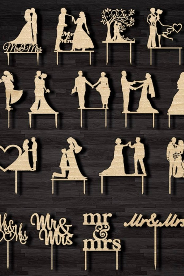 Wedding Cake Toppers By TheWoodILike