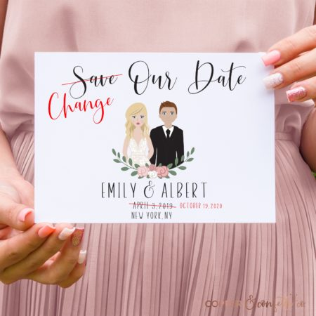 Change The Date Printable with Custom Portrait - Copper and Confetti Co.