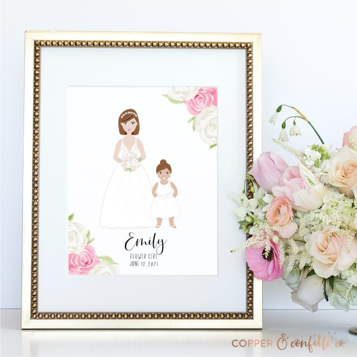 Custom flower girl portrait print - Copper and Confetti Co.