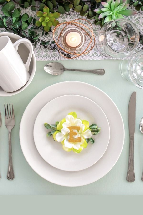 Classic white dinnerware  Dollar Tree Wedding Decor finds