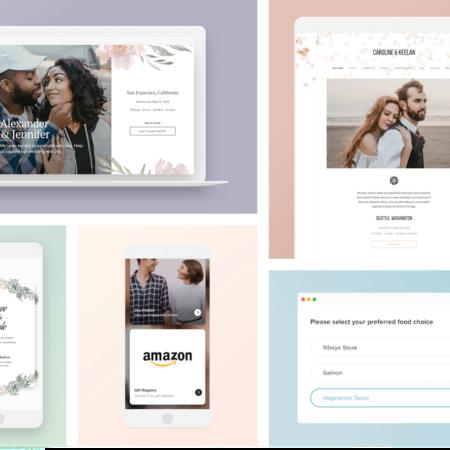 Joy Wedding Website Tools and Features