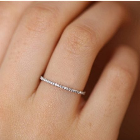 Stackable Eternity Wedding Ring