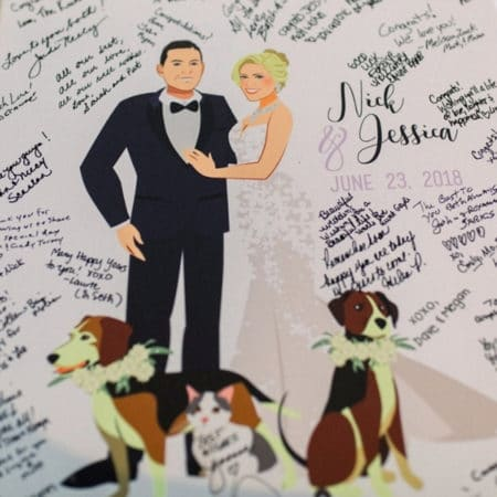 Couple Cartoon Illustration Guestbook Alternative