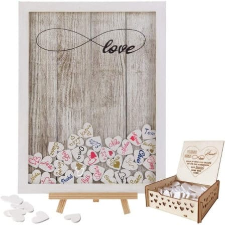 Drop Top Frame Wedding Guestbook Alternative