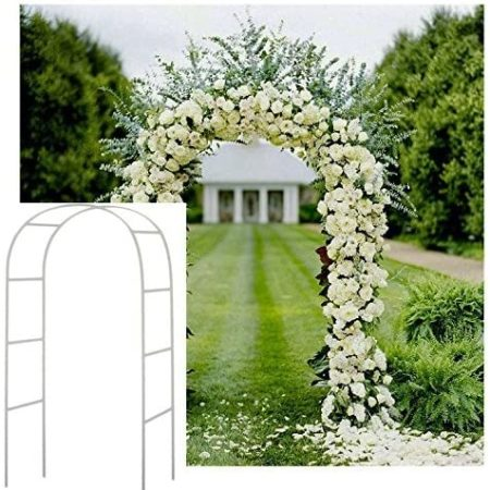 7.5' White Metal Wedding Arch
