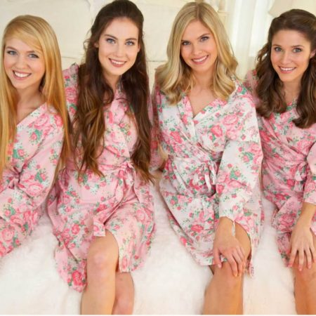 Cotton Floral Robe