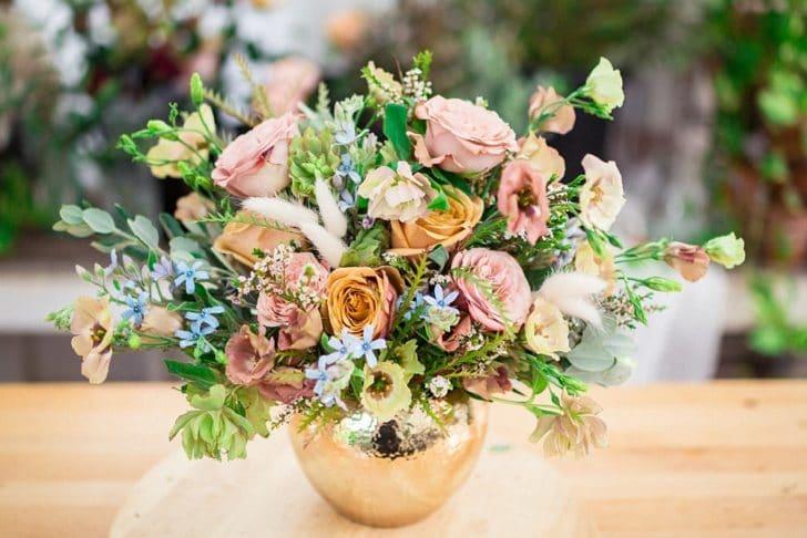 double duty bouquet centerpiece by bloom culture flowers  Double duty flower arrangements to use as bouquets and centerpieces!